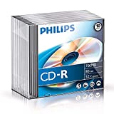 Philips CD-R 80Min / 700 MB / 52X Slimcase (10 Disc)