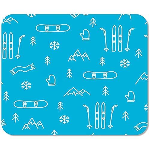Mausepad Skiberg Skifahren Snowboarden Blaues Muster Snowboard Winter Abstrakte Mausmatte Spezial Mousepad Mousepad Spielschule Bunt Büro Gedruckte Rutschfeste Arbeit 25 X 30 Cm