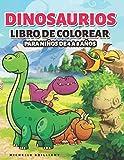 Dinosaurios Libro de colorear para niños de 4 a 8 años: 50 imágenes de dinosaurios que entretendrán a los niños y los involucrarán en actividades ... descubrir la era jurásica (Spanish Edition)