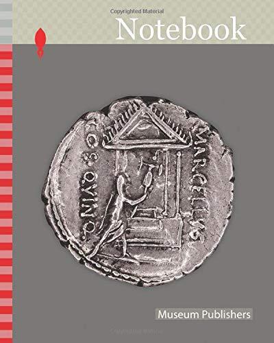 Notebook: Denarius (Coin) Portraying Marcus Claudius Marcellus, 50/49 BC, issued by Roman Republic, P. Cornelius Lentulus Marcellinus (moneyer), Roman, minted in Rome, Rome, Silver, Diam. 1.8 cm