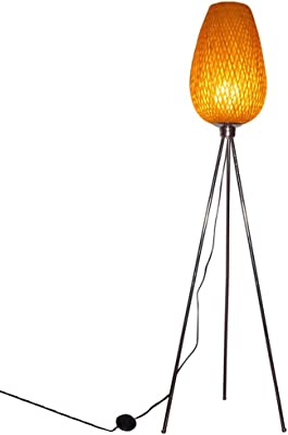 HUACANG Lámpara de pie clásica del trípode del LED de Las Artes de ...
