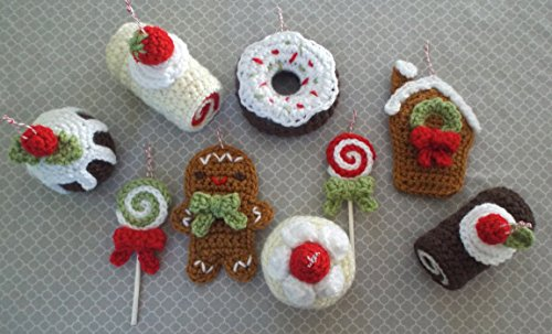 Christmas Sweets Ornament Crochet Pattern Set