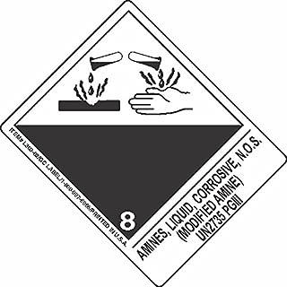 GC Labels-L303P3365, Amines, Liquid, Corrosive, N.O.S. (Modified Amine) UN2735 PGIII, Roll of 500 Labels