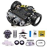 The perseids Robot Kit para Micro: bit to Learn Programación Stem Educación Toy Car for Kids 8+, Microbit Compatible Frambuesa pi, Robot arduino, Kit robotica, modelismo, Sin Micro: bit