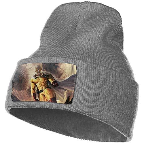 ONE Punch-Man Knit Cap Winter Unisex Warm Ski Cap Beanie Cap - Black