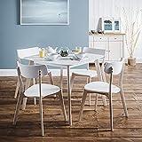 Julian Bowen Casa Set of 4 Dining Chairs, White/Limed Oak