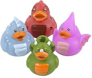 Novelty 4 Count Dinosaur Style Rubber Ducks Bath Toys