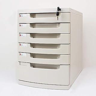 Classeur avec tiroir Fichier plat plat Classeur plat de bureau Boîte de rangement Mobilier d'archives Cabinet, avec serrur...