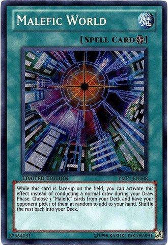 Yu-Gi-Oh! - Malefic World (YMP1-EN008) - 3D Bonds Beyond Time Movie Pack - Limited Edition - Secret Rare