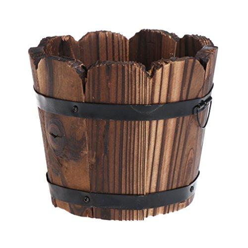 exing Maceta Macetero Jarrones pflanzer Box, rectangular de Retro de madera Carne macetas cuadrado–22,3x 7,5x 2,2cm, madera