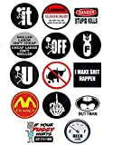 Funny Hard Hat Stickers | 14 Quality Decal Value Pack | Great for Construction Toolbox, Hardhat, Lunchbox, Helmet, Mechanic, Military, Oilfield & More Fun Gift for Union Working Men & Women. USA Made.