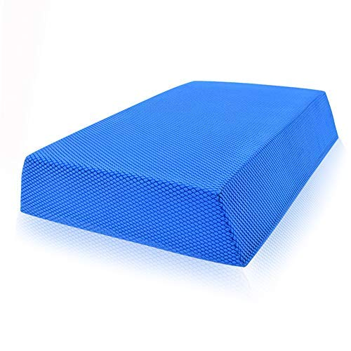 Balance Board Foam Pad Yoga Mat 11.8X8.7X2.4In, Rocker Board Physical Therapy, Non Slip Knee Cushioned Turn Boards for Dancers Balancing Exercises Seniors Kids Women Fitness Anti-Fatigue Training Pads