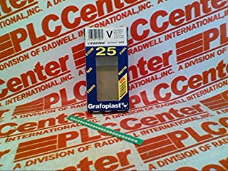 GRAFOPLAST 117MVVBW-EACH Wire/Cable Marker Strip Black ON White