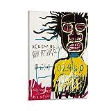Jean Michel Basquiat - Póster auto-retrato decorativo lienzo pared sala de estar póster dormitorio pintura 60 x 90 cm
