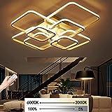 LED Dimmbare Deckenleuchte Wohnzimmerlampe Mit Fernbedienung Moderne Minimalistische Deckenleuchte Kreative Metall Acryl Design Deckenleuchte Beleuchtung Schlafzimmer Büro Halle Dekor Lampe