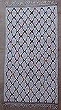 275X150 cm 9'0' x 4'11' AZ36228 AZILAL Rug Ourika,Beni Ourain Vintage Berber Rug Morocco,Wool...