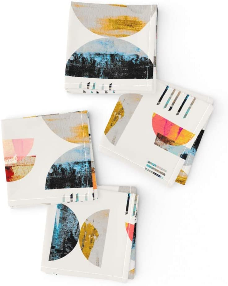 Roostery Cloth Cocktail Long Beach Ranking TOP18 Mall Napkins Min Watercolor Abstract Pattern