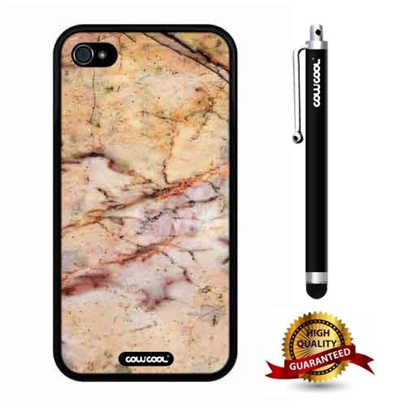 iphone 4S Case, Marble Pattern Case, Cowcool Ultra Thin Soft Silicone Case for Apple iphone 4S - Slash The Times Marble Texture