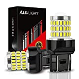 7441 bulb - AUXLIGHT 7440 7441 7443 7444 T20 992 W21W LED Bulbs Xenon White, Ultra Bright 57-SMD LED Replacement for Back Up/Reverse Lights, Brake/Tail Lights, Turn Signal/Parking or Running Lights (Pack of 2)