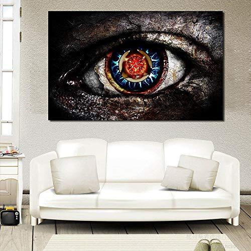 Olieverfschilderij, doek, abstract, oog, decoratie thuis, muur, foto's, voor woonkamer, modern, geen fotolijst 16X24