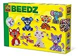SES Creative- Perline da Stirare-Animali FunPins, Colore Diversi, 06308