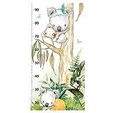 Little Deco Wandtattoo Kinderzimmer Junge Messlatte | 150cm Koala | Wandaufkleber Waldtiere Wandsticker Kinder Aufkleber Babayzimmer Spielzimmer Deko DL548