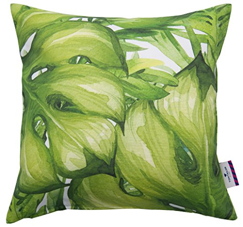 Tom Tailor T- Green Jungle Cushion Cover, Coton, Vert, 40x40 cm