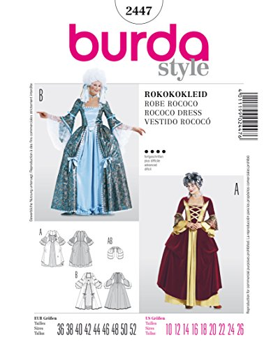 burda Schnittmuster 2447 Rokokokleid - historisches Kleid