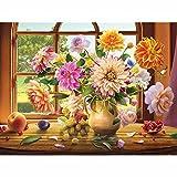 Pintura 5D Diy Diamante completa, Cuadro de pared Bordado de diamantes Venta de arreglos florales, Kit de punto de cruz, Mosaico, Decoración del hogar