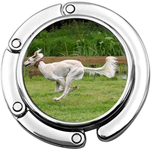 Handtas Haak Saluki Hond Race Vouwen Handtas Tafel Hanger-Bag Hanger Collection-Bureau Haken
