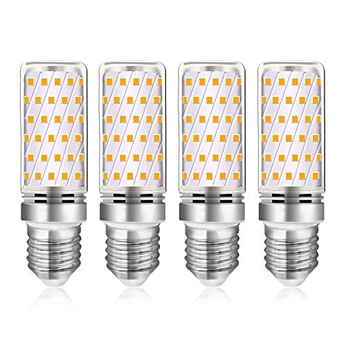 Bombilla LED E27 16W Luz Fria 6000K, 1600LM, Equivalente Lámpara Halógena 100W 120W, �ngulo 360, AC 230V, No Regulable, Edison LED E27 Maiz Blanco Frio para Lámpara de Techo, pack de 4