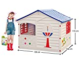 GBshop - Caseta de jardín para niños, fabricada en Italia