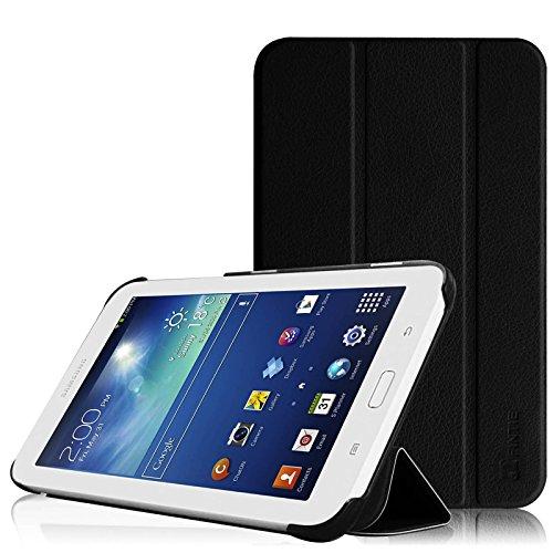 Fintie Hülle für Samsung Galaxy Tab 3 7.0 Lite T110 T111 T113 T116 - ultradünn Schutzhülle Tasche SlimShell Cover mit Ständer für Galaxy Tab 3 7.0 Lite (7 Zoll) Tablet, Schwarz