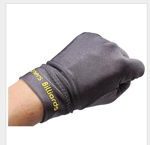 WISEUK Snooker Links Club Zubehör Hand Billard Handschuhe Billard DREI Finger Handschuh (Grey)