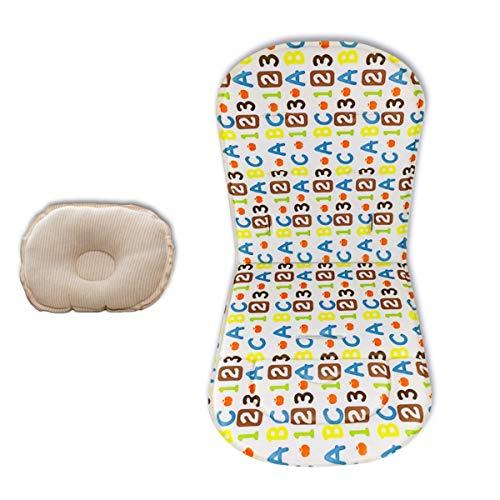 Fodera per cuscino per passeggino con cuscino per bambino Passeggini Tappetino per auto Tappeto per passeggino universale (Numbers)