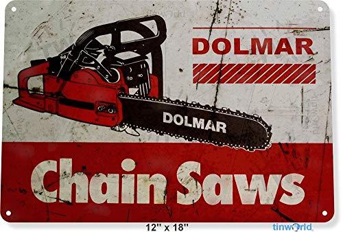 TIN SIGN Dolmar Kettingzagen Gereedschap Garage Shop Rustieke Metalen Decor B606 Metalen Blik Teken 8X12 Inch