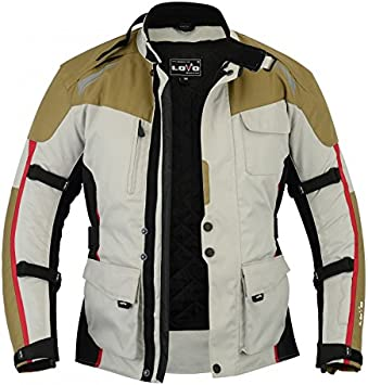 LOVO Chaqueta 3//4 para moto de hombre L