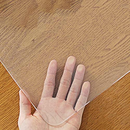 Protector Transparente XXIOJUN Tapete Transparente Impermeable. Manteles Mantel Individual De PVC Prueba De Agua Y Aceite para Mesa/Escritorio Cojines De Mesa Cubiertas De Mesa