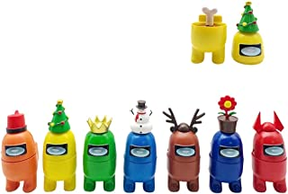 Among us dockor, 7 st Among USA spel docka varm spelfigur, crewmates figurer dekorera set för bil kontor dekor, jul bordsd...
