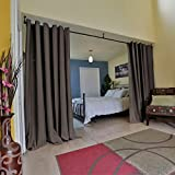 RoomDividersNow Premium Heavyweight Room Divider Curtain, 8ft Tall x 10ft Wide (Dark Chocolate)