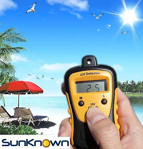 Sunlight Meter for Measuring Harmful Ultraviolet Solar Light Radiations - Portable UV Intensity Meter & UV Sun Light Strength Tester - Digital UV Index Sensor & Handheld UV Detector - by SunKnown