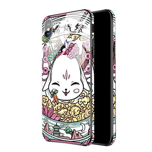 KIOKIOIPO-N Mode for iPhone 11 TPU + Glass Full Coverage-Schutzhülle (Pattern : Jade Hare)