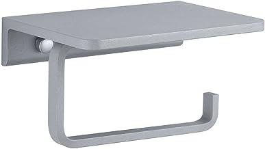 Ruimte aluminium papieren handdoekrek, badkamerplank, rolpapierhouder, wandrek voor toiletrolhouder in hotelbadkamer-grijs