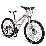 26 Zoll Damen Mountain Bikes, Alurahmen Hardtail Mountainbike, Verstellbarer Sitz Lenker, Fahrrad mit Federgabel, 33 Geschwindigkeit FDWFN (Size : 33 Speed)