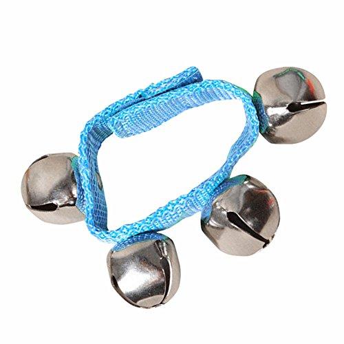 display0 8 Baby Kids Nylon muñeca pie campanas sonajeros anillo juguete pulsera regalo azul