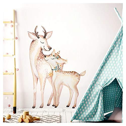 Little Deco Wandtattoo Rehe I (BxH) 42 x 60 cm I Kinderzimmer Babyzimmer Kinder Aufkleber Sticker Wandaufkleber Wandsticker Klebeposter Stickers Kind DL152