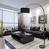 miwaimao Lámpara de suelo curvada moderna, minimalista nórdico, lámpara de pie para decoración del hogar, adecuada para sala de estar, comedor, dormitorio, ajedrez (color negro)