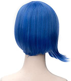 Probeauty Wig Movie Blue/Royal Blue/Green Straight Party Cosplay Wigs for Inside Out