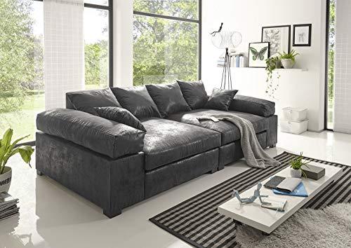 Big Sofa Couchgarnitur Megasofa Riesensofa Polstergarnitur XXL Vintage (Vintage Hellbraun)