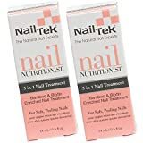 Nail Tek Nail Nutritionist, Bamboo & Biotin 5 in 1 Nail Treatment for Soft and Peeling Nails, 0.5 oz, 2-Pack